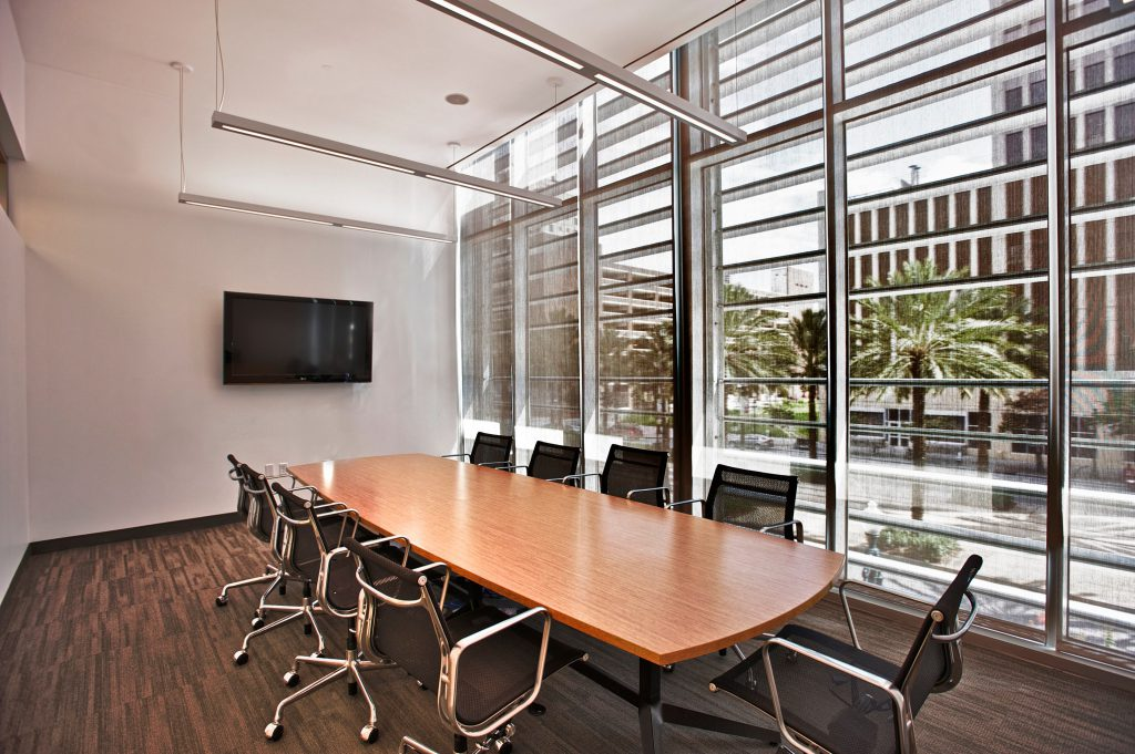 New Orleans BioInnovation Center conference rooms on each floor
